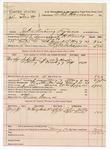 1891 May 16: Voucher, U.S. v. John Scott, introducing spirituous liquors; L.H. Ramey, deputy marshal; Jacob Yoes, U.S. marshal; Thomas Brown, posse comitatus; E.B. Harrison, commissioner; J.M. Karnes, notary public; Stephen Wheeler, clerk; I.M. Dodge, deputy clerk; John Kelly, William Kirk, witnesses; includes cost of mileage, service and feeding prisoner