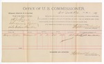 1891 May 23: Voucher, U.S. v. H.J. Spicer, introducing spirituous liquors; Hiram Lightle, witnesses; Jacob Yoes, U.S. marshal; Stephen Wheeler, commissioner; includes cost of per diem and mileage