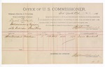 1891 May 25: Voucher, U.S. v. David Roberts, introducing spirituous liquors; Sam Woodard, witness; Jacob Yoes, U.S. marshal; Stephen Wheeler, commissioner; includes cost of per diem and mileage