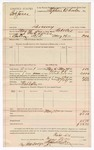 1891 May 30: Voucher, U.S. v. Bob Jones, larceny; Robert Cox, deputy marshal; Jacob Yoes, U.S. marshal; Stephen Wheeler, commissioner; I.M. Dodge, deputy clerk; Grant Dalton, posse comitatus; includes cost of mileage, service and feeding prisoner