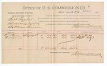 1891 May 28: Voucher, U.S. v. Bart Taylor, introducing spirituous liquors; A.J. Stacy, H.D. Boyd, witnesses; Jacob Yoes, U.S. marshal; Stephen Wheeler, commissioner; includes cost of per diem and mileage
