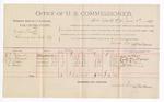 1891 June 1: Voucher, U.S. v. George Kirk, larceny; W.E. Pollard, J.M. Pollard, H.E. Hope, J.H. Bevens, witnesses; Jacob Yoes, U.S. marshal; James Brizzolara, commissioner; includes cost of per diem and mileage
