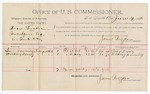 1891 June 4: Voucher, U.S. v. Deane Tucker, introducing spiritous liquors; Sam Downing, Heckory Downing, witnesses; Jacob Yoes, U.S. marshal; James Brizzolara, commissioner; includes cost of per diem and mileage