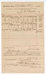 1891 September 15: Voucher, to J.H. Brooks; includes cost for meals served to jurors and bailiff at district court for U.S. v. Frank Hill, murder, U.S. v. George Sam, murder, U.S. v. Grant Quinn, murder; includes cost of breakfast, dinner and supper; Jacob Yoes, U.S. marshal; Stephen Wheeler, clerk; I.M. Dodge, deputy clerk