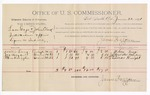 1891 June 22: Voucher, U.S. v. Luce Gage and John Clark, introducing and selling spiritous liquor; Willis Long, Joseph Boyd, Thomas Knight, witnesses; Jacob Yoes, U.S. marshal; James Brizzolara, commissioner; includes cost of per diem and mileage