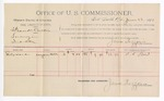 1891 June 22: Voucher, U.S. v. Frank Curtis, larceny; S.C. Ward, witnesses; Jacob Yoes, U.S. marshal; James Brizzolara, commissioner; includes cost of per diem and mileage