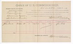 1891 June 22: Voucher, U.S. v. Elmer Bevins, introducing spirituous liquors; John Kirk, witnesses; Jacob Yoes, U.S. marshal; Stephen Wheeler, commissioner; includes cost of per diem and mileage