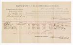 1891 June 23: Voucher, U.S. v. A.J. Mattox et al., threatening to kill; E.B. Hoyt, Wash Casey, T.A. Ponder, Thomas Porter, witnesses; Jacob Yoes, U.S. marshal; Stephen Wheeler, commissioner; includes cost of per diem and mileage