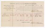 1891 June 26: Voucher, U.S. v. George Crittenden et al., larceny; J.T. Brown, George Paul, witnesses; Jacob Yoes, U.S. marshal; Stephen Wheeler, commissioner; includes cost of per diem and mileage