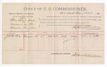 1891 June 29: Voucher, U.S. v. Wiley Bear et al., murder; John S. Porter, witnesses; Jacob Yoes, U.S. marshal; Stephen Wheeler, commissioner; includes cost of per diem and mileage