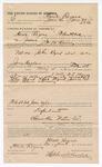 1891 June 30: Voucher, to Howe Rogers, of Fort Smith, Arkansas, for assisting J.P. McKinney, deputy marshal, in U.S. v. John Byrd et al., introducing spirituous liquors; Red Byrd, arrested; James Brizzolara, commissioner; Jacob Yoes, U.S. marshal; Stephen Wheeler, clerk