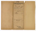 1891 October 16: Envelope; Jacob Yoes, U.S. marshal; includes cost of total amount paid