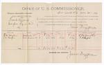 1891 June 30: Voucher, U.S. v. Frank Moncrief, introducing spiritous liquors; C.M. Vaughn, S.D. Harper, witnesses; Jacob Yoes, U.S. marshal; James Brizzolara, commissioner; includes cost of per diem and mileage