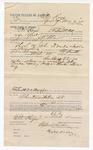 1892 May 4: Voucher, to Eli Keys, of Fort Smith, Arkansas, for assisting J.D. Shaw, deputy marshal, in U.S. v. John Drake, introducing and selling spiritous liquor; James Bizzolara, commissioner; Stephen Wheeler, clerk; I.M. Dodge, deputy clerk; Jacob Yoes, U.S. marshal