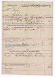 1892 July 13: Voucher, U.S. v. Perry Vaughn, violating revenue law; Thomas B. Johnson, deputy marshal; E.B. Harrison, commissioner; Ham Dodson, witnesses; includes cost of mileage, service and subsistence for self and horse
