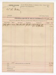 1892 August 15: Voucher, U.S. v. William R. Fortner; W.C. Smith, deputy marshal; William Halsell, William C. Patton, witnesses; includes cost of mileage and service