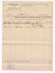 1892 June 26: Voucher, U.S. v. John Garland, larceny; G.S. White, deputy marshal; James Harris, William Taylor, A.A. McPhee, Soloman Hosman, witnesses; includes cost of mileage and service