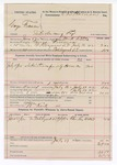 1892 July 19: Voucher,  U.S. v. George Freeman, introducing liquor; Mark Little, deputy marshal; E.B. Harrison, commissioner; William Kirk, posse comitatus; Charley Noblet, witness; includes cost of mileage, service and subsistence for self, horse and prisoner