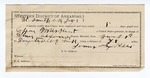 1892 July 29: Voucher, U.S. v. Coffey Muskrat, introducing liquors; Elmer Alexander, deputy marshal; E.B. Harrison, commissioner; James Sixkiller, guard; includes cost of mileage, service and subsistence of self, horse and prisoner