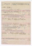 1892 July 19: Voucher, U.S. v. Mose Ketchem, introducing liquor; Mark Little, deputy marshal; E.B. Harrison, commissioner; William Kirk, posse comitatus; Bullet Weaver, Charley Noblet, witnesses; includes cost of mileage, service and subsistence for self, horse and prisoners