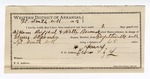 1892 July 11: Voucher, U.S. v. Walter Barnard, introducing liquor; Elmer Alexander, deputy marshal; E.B. Harrison, commissioner; H. Young, guard; includes cost of mileage and service