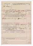 1892 September 24: Voucher, U.S. v. John Buchanan, larceny; John B. Howard, deputy marshal; Stephen Wheeler, commissioner; Robert Stevens, posse comitatus; includes cost of mileage, service and subsistence for self, horse and prisoner