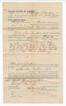 1892 July 25: Voucher, to George Barnes, of Hanson, Cherokee Nation, for assisting Preston Barnes, deputy marshal, in U.S. v. Sam Sanders et al, assault with intent to kill; Stephen Wheeler, commissioner; I.M. Dodge, deputy clerk; Jacob Yoes, U.S. marshal; includes cost of daily wage