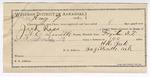 1892 August 09: Certification of employment; H.H. York, guard; W.C. Smith, deputy marshal; Jack Ross, prisoner