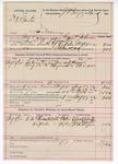 1892 August 19: Voucher, U.S. v. D.A. Burton, larceny; includes costs of service of warrant, mileage on writ, 4 days feeding 1 prisoner; Washington Waits, Joe Waits, S.A. Rogers, witnesses; Grant Johnson, deputy marshal; James Brizzolara, commissioner