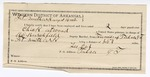 1892 August 16: Voucher, U.S. v. Charles Atwood, larceny; includes costs of service as guard, service of warrant, mileage on writ; Walter Bear, George Perryman, James Sanders, R.C. Daniels, witnesses; Lee Cox, guard; B.C. Burchfield, deputy marshal; Stephen Wheeler, commissioner