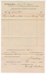 1892 August 22: Voucher, to Lansford Bros.; includes costs of shoeing horse; Jacob Yoes, U.S. marshal;  Stephen Wheeler, clerk