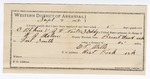 1892 September 03: Voucher, U.S. v. E. Pitkin, Samuel Eddy, J.W. Nail, cutting government timber; includes costs of service as guard, service of warrant, mileage on writ; Buck Lofton, One Thompson, Wiley Smith, A.S. Smith, witnesses; E.P Mills, guard; W.J. Malone, deputy marshal; James Brizzolara, commissioner