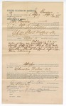 1892 September 20: Voucher, to Joe Bowers, of Fayetteville, Arkansas, for assisting A.W. Bruner, deputy marshal, in U.S. v. Lemark Smith and Steward Wafford, introducing spirituous liquor; includes costs of service as posse comitatus; E.B. Harrison, commissioner; B. Shafer, notary; Stephen Wheeler, clerk; J.M. Dodge, deputy clerk; Jacob Yoes, U.S. marshal