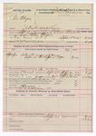 1892 September 20: Voucher, U.S. v. Peter Abique, introducing spirituous liquor; includes costs of service of warrant, mileage on writ, feeding prisoner; P.W. Blevins, posse comitatus; Elmer Alexander, deputy marshal; E.B. Harrison, commissioner