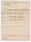 1892 September 15: Voucher, U.S. v. Hardy Colbert; U.S. v. Mose Patterson; U.S. v. Asa halah; includes costs of service of subpoenas; Zack Robinson, L.C. Jones, J.T. Brashears, Lee Stedham, Robert Kile, witnesses; Grant Johnson, deputy marshal