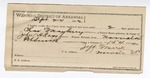 1892 September 20: Voucher, U.S. v. Charles Mayberry, introducing spirituous liquor; includes costs of service as guard, service of warrant, mileage on writ; Olen Rogers, Rufus Rogers, witnesses; Jeff Merrill, guard; John H. Ross, deputy marshal; James Brizzolara, commissioner; Stephen Wheeler, clerk; J.M. Dodge, deputy clerk