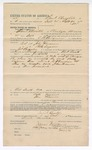 1892 October 01: Voucher, to  Saul Checotah, of Okmulgee, Creek Nation, for assisting C.B Perryman, deputy marshal, in U.S. v. John Foreman and Billy Sizemore, larceny; includes costs of service as posse comitatus, service of warrant, mileage on writ; A. Chambers, Newska, Waxie Harps, Ben Porter, Nancy Duncan, witnesses; James Brizzolara, commissioner; Stephen Wheeler, clerk; Jacob Yoes, U.S. marshal