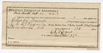 1892 September 28: Voucher, U.S. v. Charles M. Trammell, larceny; includes costs of service as guard, service of warrant, mileage on writ; J.S. Bullock, Tom Bullock, G.O. Ward, witnesses; Ed Rogers, guard; J.C.C. Rogers, deputy marshal; Stephen Wheeler, commissioner; J.M. Dodge, deputy clerk
