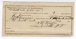1892 September 27: Certificate of employment, S.W. Prather, guard; Steve Vann, prisoner; E.H. Bruner, deputy marshal