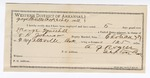 1892 September 27: Certificate of employment, A.G. Rogers, guard; George Mitchell, prisoner; T.B. Johnson, deputy marshal
