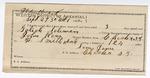 1892 October 01: Certificate of employment, Sam Jones, guard; Goliah Solomon, prisoner; John Ross, deputy marshal