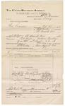 1892 October 29: Voucher, U.S. v. Charles Sander, larceny; includes costs of travel; George W. Blair, John Baker, J.M. Sharkey, Bob Cooper, witnesses; W.R. Crowder, deputy marshal; Stephen Wheeler, commissiomner; Jacob Yoes, U.S. marshal