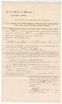 1895 January 25: Mittimus, U.S. v. Jim Baldridge, introducing spirituous liquor; Isaac Parker, judge; Stephen Wheeler, clerk; J.M. Dodge, deputy clerk; George J. Crump, U.S. marshal; J.B. Lee, deputy