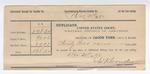 1892 December 31: Voucher, U.S. v. Robert Fleetwood, murder; includes costs of mileage fees; W.J. Crowder, deputy marshal; W.J. Hunter, deputy; Jacob Yoes, U.S. marshal; Stephen Wheeler, clerk
